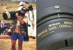 The Nikkor 1200-1700mm f/5.6-8 is a pretty rare beast. It measures 3 feet long, weighs 36 pounds, and cost $60,000 when it was released back in 1993.