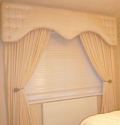 Pelmet and Curtains Cream Shaped Style. www.handmadebymaria.co.uk