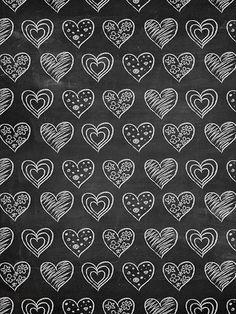 Chalkboard Hearts / 2370