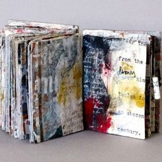 Like I Said by Linda Welch Collages, Collage Art, Handmade Journals, Handmade Books, Handmade Rugs, Handmade Crafts, Art Journal Pages, Art Journals, Journal Covers