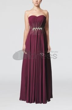 Elegant Sweetheart Sleeveless Chiffon Floor Length Bridesmaid Dresses
