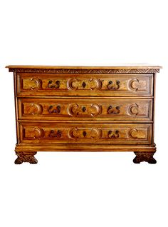 Wonderfully deep patina: Italian Antique Carved Chest of Drawers | The HighBoy | www.thehighboy.com