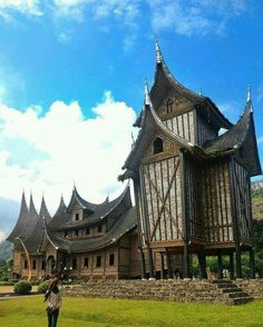 Rumah Gadang, Traditional house of West Sumatera.