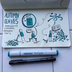 #TodaysDoodle No. 29 Autumn Leaves. | Flickr - Photo Sharing!