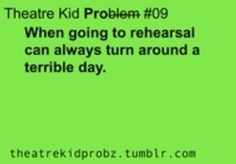 This actually happened today! Rehearsal makes everything better!
