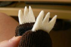 How to make a sloth plushie. Sock Sloth - Step 13