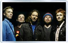 Pearl Jam - Plastic Fridge Magnet C