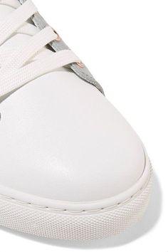 Sophia Webster - Riko Metallic-trimmed Leather Sneakers - White - IT36.5