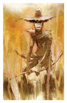 SCARECROW batman art print 11x17 BRETT WELDELE by brettweldele