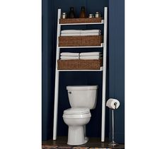Ainsley Over the Toilet Ladder | Pottery Barn - brilliant for tight spaces!