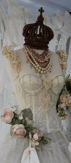 shabby chic corset ♥♥