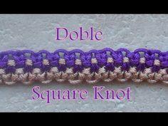 Pulsera de Hilo: Doble Square Knot - YouTube