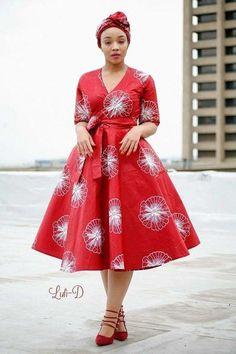 Attractive shweshwe dresses For Women 2019 ShweShwe 1 Short African Dresses, Latest African Fashion Dresses, African Print Dresses, African Fashion Ankara, African Print Fashion, African Dress Styles, South African Traditional Dresses, Ankara Mode, Ankara Dress Styles