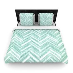 Found it at Wayfair - Heidi Jennings 'Painted Chevron' Woven Duvet Cover