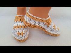 Cum crosetam botosi veseli Mirela - foarte usor si rapid de lucrat / Tutorial pas cu pas - YouTube Crochet Slippers, Knit Crochet, Slipper Socks, Sock Shoes, How To Wear, Macrame, Diy, Fashion, Molde