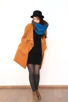 "Cardigan Mantel ""curry"" // Wool Shape by Diba se Diva via DaWanda.com"
