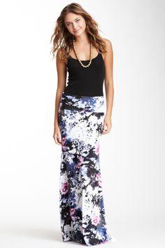 Foldover Maxi Skirt + Black Tank