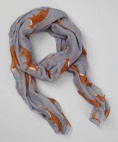 Love this Gray Fox Scarf on #zulily! #zulilyfinds