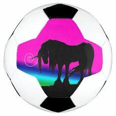 Rainbow Unicorn Soccer Ball - tap, personalize, buy right now! #SoccerBall #unicorn #unicorns, #legendary #animals, #fantasy Soccer Gear, Soccer Gifts, Soccer Ball, Soccer Inspiration, Unicorn Themed Birthday, Family Fun Night, Soccer Skills, Beautiful Unicorn, Unicorn Gifts
