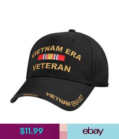 a3383f5baf3 Hats Black Us Army Vietnam Era Veteran Vet Ribbon Baseball Hat Cap  ebay   Fashion
