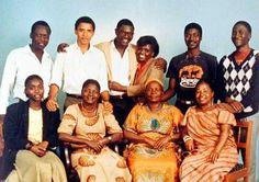 The extended Obama family in Kenya.