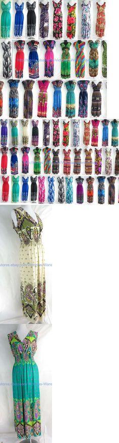 Dresses 50986: Wholesale Lot Of 20 Long Dress Maxi Sundress Beach Bohemian Clothes Women Summer -> BUY IT NOW ONLY: $149.95 on eBay!