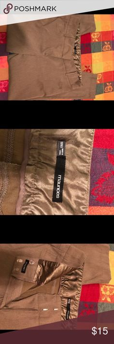Tan dress pants Maurices tan dress pants.  Size 15/16 Maurices Pants Straight Leg