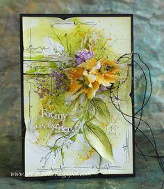 Art_Dorota (Dorota (Kopeć) Kotowicz: Z maskami od Agi Baraniak :) Mixed Media Cards, Card Making Inspiration, Aga, Scrapbook Paper, Decoupage, Birthday Cards, Stencils, Paper Crafts, Painting