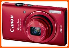 Canon PowerShot ELPH 130 IS 16.0 MP Digital Camera with 8x Optical Zoom 28mm Wide-Angle Lens and 720p HD Video Recording (Red) (Discontinued by Manufacturer) - Photo stuff (*Amazon Partner-Link)