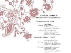 Wedding Itinerary Template, Weekend Itinerary, Wedding Schedule, Wedding day Schedule free printable pretty timetable for the day! Wedding Itinerary Template, Wedding Day Itinerary, Wedding Day Schedule, Wedding Planner, Wedding Templates, Wedding Book, Diy Wedding, Wedding Ideas, Microsoft Word Document