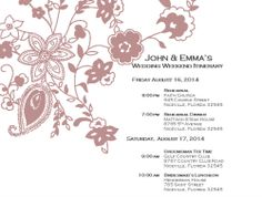 wedding itinerary template for bridal party - Google Search ...