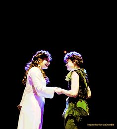 Picture a land that you never have seen, where life is eternal and evergreen - Finding Neverland (Laura Michelle Kelly and Melanie Moore)