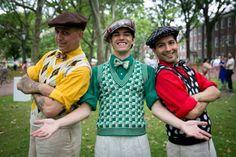 Three colourful waistcoats/slipovers