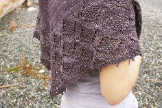 detail of Judy Marples' Raven's Nest shawl