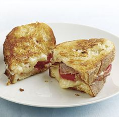 Garlic-Rubbed Grilled Cheese with Prosciutto and Tomatoes