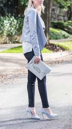 This blogger looks so trendy in this CAMI NYC top!