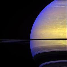Saturn W00081185 - 190 - methane, infrared, blue, vio filters - NASA/JPL/Space Science Institute processing by 2di7 & titanio44