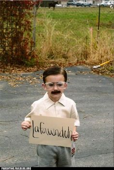 Napoleon Dynamite's brother for a kid's Halloween costume. Too stinkin' cute!