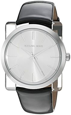 578016491f54 Michael Kors Womens Kempton Quartz Resin and Leather Casual Watch  ColorBlack Model MK2483   Read more