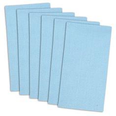 "DII 100% Cotton, Oversized Basic Everyday 20x 20"" Napkin, Set of 6, Variegated Light Blue"