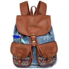 529adf4ce64d Vente de Sac à dos femme Art Dakar African bleu denim Desigual   acheter Sac  à