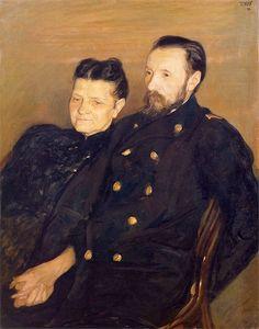 Portrait of the Artist's Parents(1899) - Wojciech Weiss (Polish,1875 - 1950)