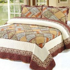 Sexy Leopard and Beige Yellow Squares Pattern Wonderful Bed in a Bag Set King Size Bedding Sets, Bedding Sets Online, Bed In A Bag, Linen Bedding, Bed Sheets, Beige, Blanket, 3 Piece, Squares