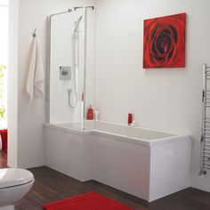 Salle de bain on pinterest attic bathroom bathroom layout and smal - Baignoire angle 130x130 ...