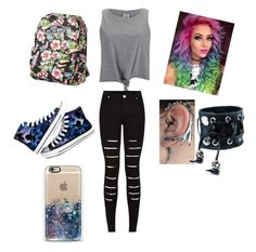 """""""Untitled #49"""" by bloodyrabbit197 ❤ liked on Polyvore featuring mode, Vero Moda, Vans, Converse et Funk Plus"""