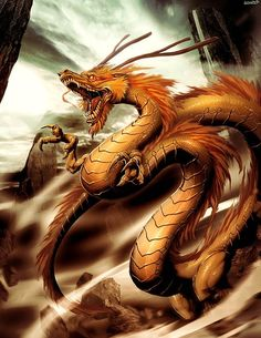 Shenlong, also Shen-lung, is a spiritual dragon from Chinese mythology who is the master of storms and also a bringer of rain. He is of equal significance like Tianlong, the celestial dragon. Fantasy Creatures, Mythical Creatures, Mythological Creatures, Dragon Oriental, Art Steampunk, Chinese Mythology, Cool Dragons, Year Of The Dragon, Legendary Creature