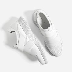 Image 1 of WHITE SNEAKERS WITH HOOK AND LOOP CLOSURE from Zara