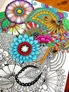 Mandala zum Ausmalen farben blumen