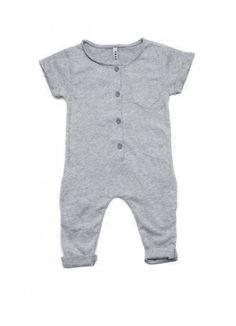 Organic Summer Suit / Grey Melange : Fawn Shoppe - Global Boutique For Unique Children's Designs