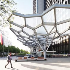 """Just Burgeff architekten + a3lab - Westend Gate (Marriott Tower) in Frankfurt -- """"Tree Structure Canopy"""""""